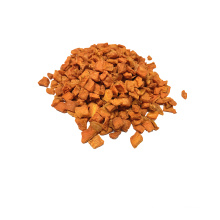 Safety green food puffed dried carrot 10x10x3mm