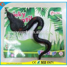 Venta caliente divertida entretenimiento suave serpiente pegajosa juguete