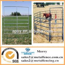 precio más bajo de metal corral caballo cerca plumas portátil ganado cerca de la granja panel