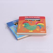 impression de livre relié de carton d'enfant