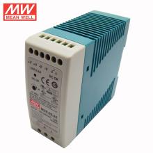 3 años de garantía MEAN WELL Din Rail 60W 24V fuente de alimentación Mini tamaño MDR-60-24