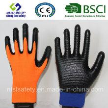 13G Polyester Shell mit Nitril beschichteten Arbeitshandschuhen (SL-N119 (1))