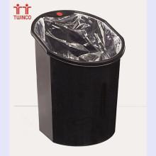 Lixeira de lixo plástico de 15 l poeira poeira lixeira de plástico doméstico