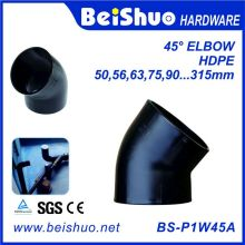 HDPE Pipe Fitting Elbow 45 Degree mit Single Socket