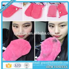 Removedor de maquillaje de limpieza profunda Guante de microfibra / cosmetico facial
