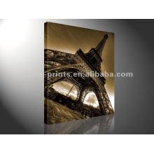 La Torre Eiffel imprime la decoración de la exhibición del arte de la pared de la lona