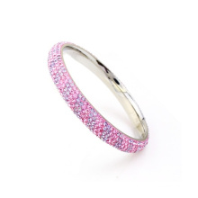 New stylish factory high quality pink crystal bangles , women crystal bangles