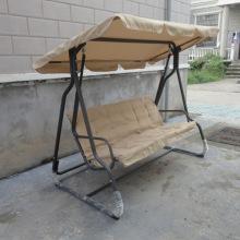 Открытый 3 места качели с навесом и декоративные подушки