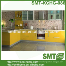 modern modular MDF MFC customized yellow kitchen cabinet