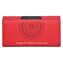 Factory Cheap Hot Sale Vintage Punched Red Purse (ZX10165)