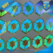 Benutzerdefinierte 3D-Zertifikat Hologramm ZOLO billig holographischen Aufkleber Klebstoff Hologramm Anti-Fälschung Aufkleber