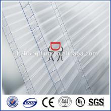 10mm ópalo 3-pared rectángulo-estructura policarbonato hoja hueca