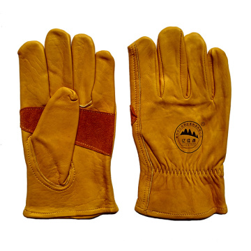 Reinforcement Cow Grain Leather Safety Rigger Gloves for Working