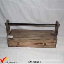 Farm Vintage Brown Handcrafted titular de fita de madeira rack
