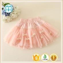 New children skirt casual style bow design beautiful girl skirt dress kid girl mini skirt