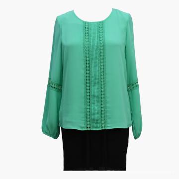 Кружевная блуза с длинными рукавами Feminina
