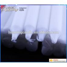 Белые свечи, парафиновая свеча, термоусадочная упаковка
