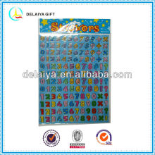 Educational removable number PVC sticker for kids