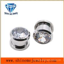 Art und Weise einzelner Zircon-Körper-Piercing-Ohr-Stecker