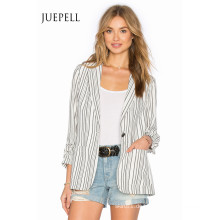 Mode-Streifen-Klage-Büro-Frauen-Jacke