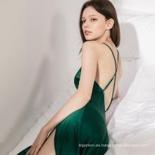 Elegant Lady Fashion Gran calidad de ropa de dormir Soft Cosy Evil Green Beauty Back Sexy Lingerie