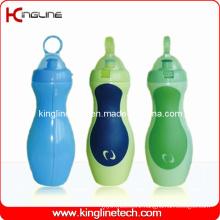 Plastic Sport Water Bottle, Plastic Sport Water Bottle, 600ml Plastic Drink Bottle (KL-6645)