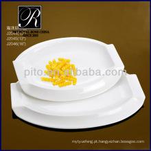 Fábrica da porcelana de P & T, placas de serviço, placas brancas
