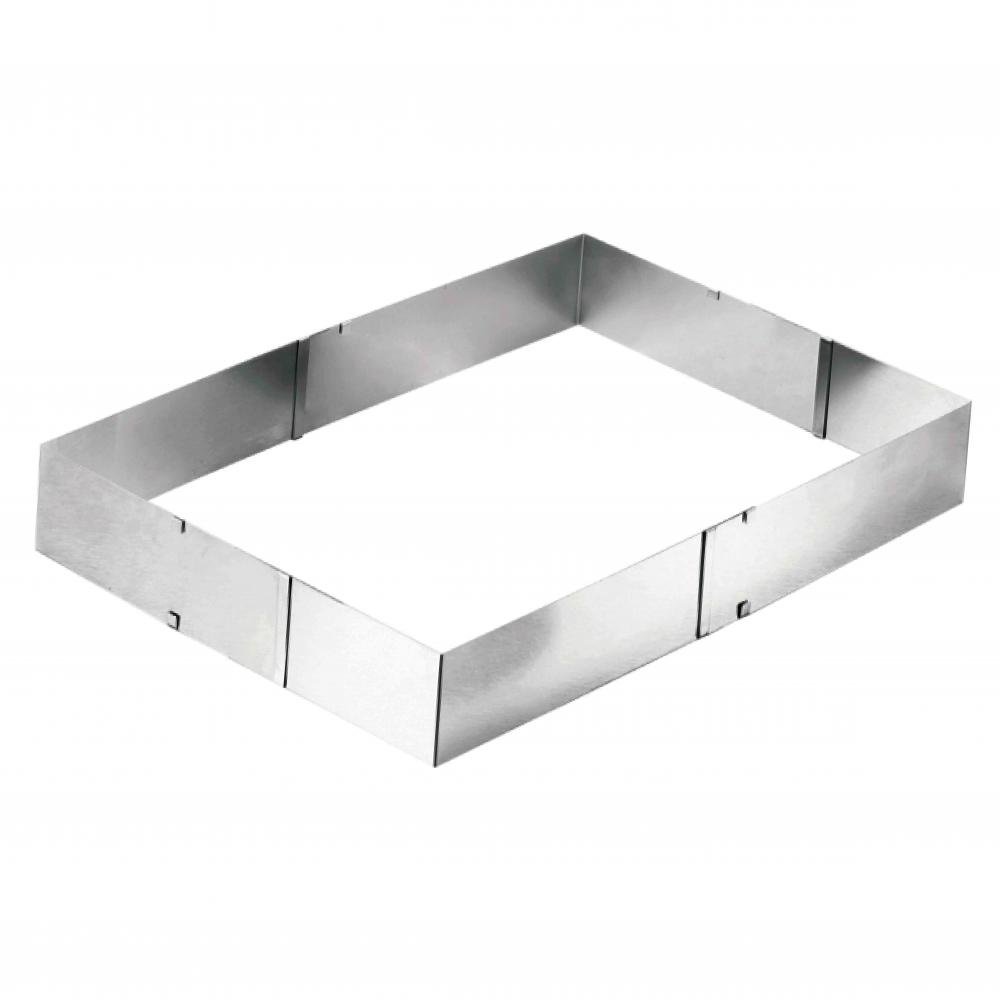 stainless steel extendable square cake ring