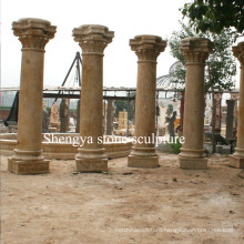 Sandstone Yellow Marble Stone Sculpture Column (SY-C007)
