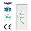 beautiful high quality bedroom wooden swing single leaf PVC door