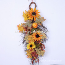 """26"""" Leaves Berry and Hydrangea Decorative Hanger"""