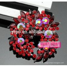Boucle de broche en cristal floral en gros personnalisé