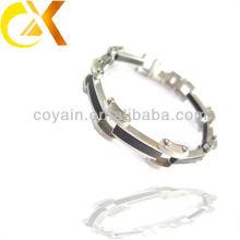 Nova moda pulseira de jóias de aço inoxidável para homens