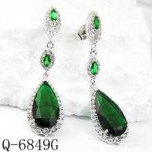Dernières Styles boucles d'oreilles 925 bijoux en argent (Q-6849G)