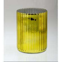 Цилиндрический золотой подсвечник с вертикальной L-флейтой