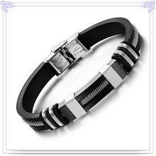 Bracelet en silicone à bracelet en caoutchouc pour mode (LB201)