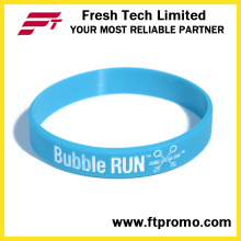 Pulseira de Silicone de Presente de Promoção Personalizada com Logotipo Impresso
