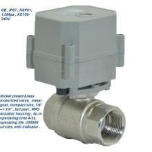 Tonhe 2 vias Ss316 Atuador elétrico Válvula de esfera de água