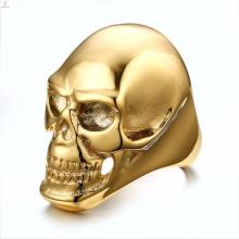 Популярные оптовая продажа нержавеющей стали оптом череп кольца ювелирные изделия