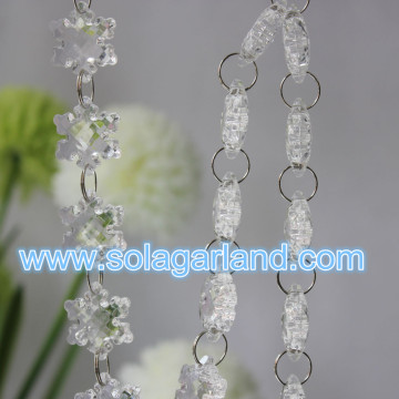 27MM Colorful Snowflake Bead Garland Wholesale Acrylic Crystal Christmas Garland