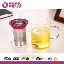 Handmade restaurant water glass tea mugs with handles 350ml
