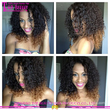 100% человеческих волос афро кудрявый вьющиеся парик фронта шнурка ломбер вьющиеся huamn волос парики для чернокожих женщин
