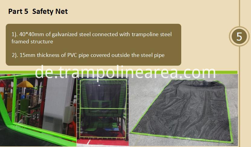 safety net of elevation trampoline park