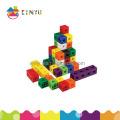 Plastic Snap ligando brinquedo cubos para crianças (k002)