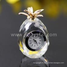 Cadeaux De Petite Horloge De Table En Cristal