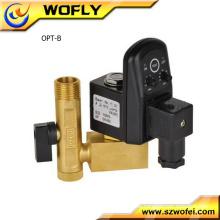 2/2 Wege 1/4 '' elektrisches Ablassventil mit Zeitschaltuhr für Luftkompressor