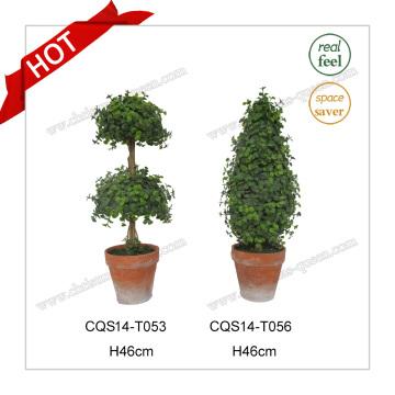 H46cm Plastic Pot Flower Artificial Trees Banyan Bonsai