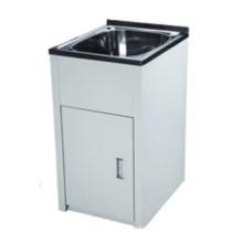 Bañeras de lavandería individuales blancas a prueba de agua con gabinete (460)