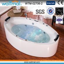 Lange Qualität Whirlpool Massage Badewanne mit Blase