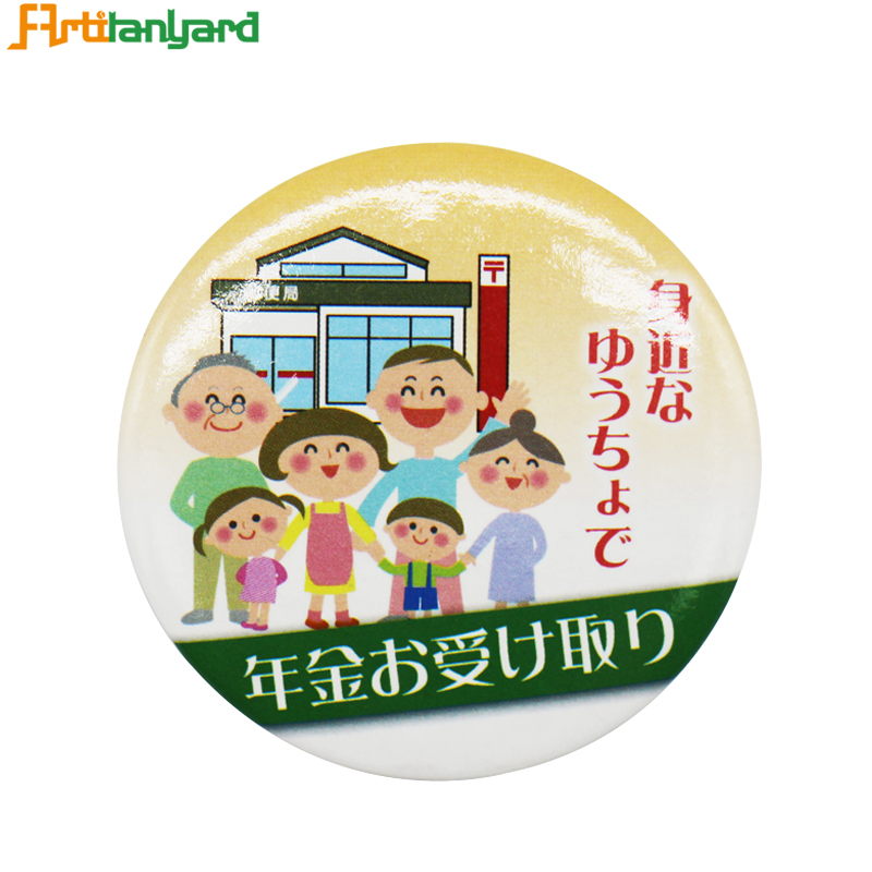 Personalized Button Badge With Safety Pin